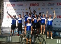 Hostens team participating in bike marathon