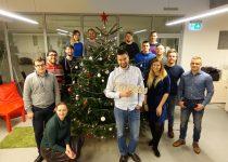 Hostens team celebrating christmas
