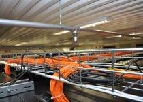 Wires in Hostens data center