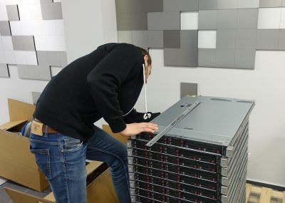 Unpacking new servers