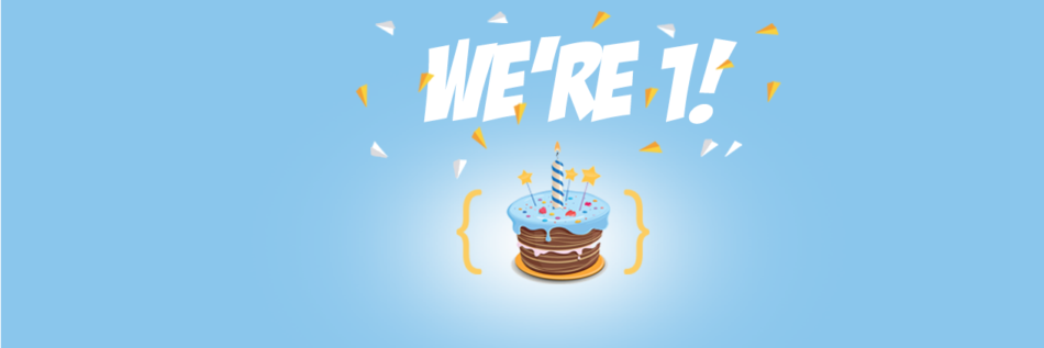 Hostens first birthday banner