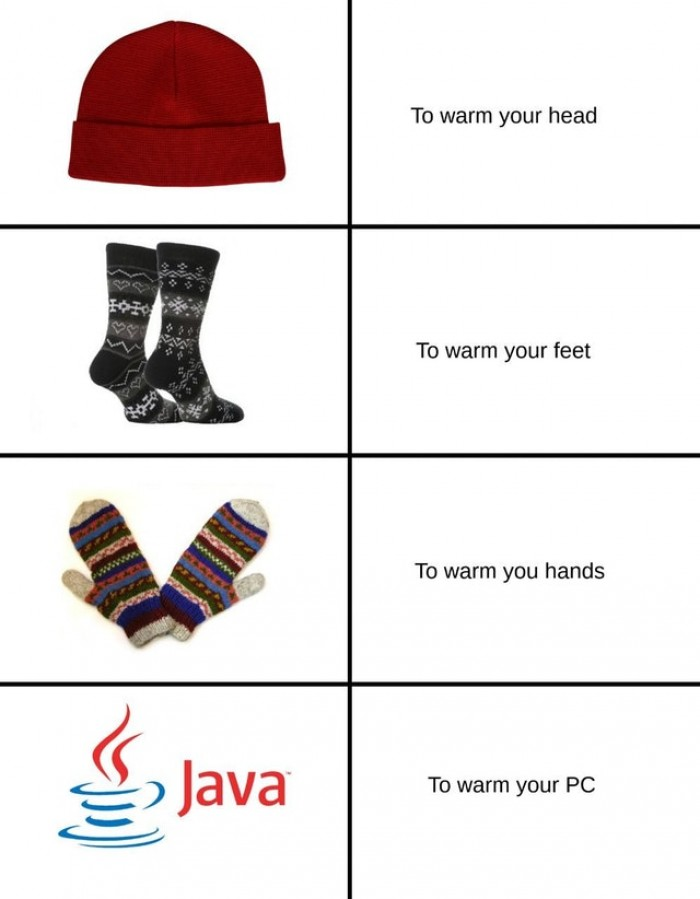 Warm up your PC with JAVA