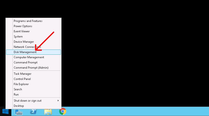 Start Disk Management