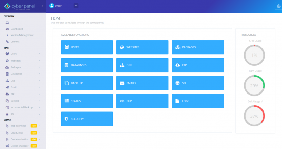 cyberpanel-dashboard