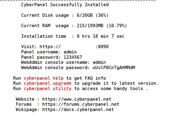 cyberpanel-installation